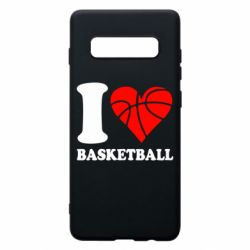 Чохол для Samsung S10+ I love basketball