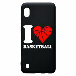 Чехол для Samsung A10 I love basketball