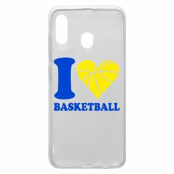 Чехол для Samsung A20 I love basketball