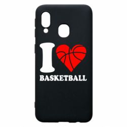 Чехол для Samsung A40 I love basketball