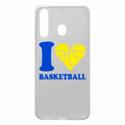 Чехол для Samsung A60 I love basketball