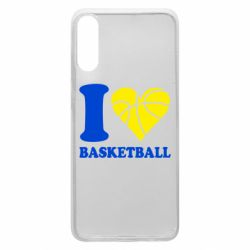 Чехол для Samsung A70 I love basketball