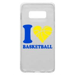 Чехол для Samsung S10e I love basketball