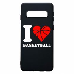 Чехол для Samsung S10 I love basketball