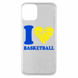 Чехол для iPhone 11 I love basketball
