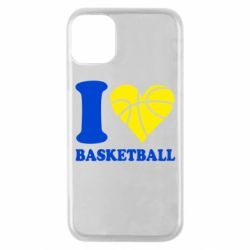 Чохол для iPhone 11 Pro I love basketball