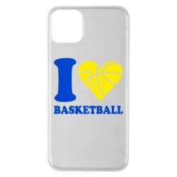 Чехол для iPhone 11 Pro Max I love basketball
