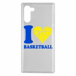 Чехол для Samsung Note 10 I love basketball
