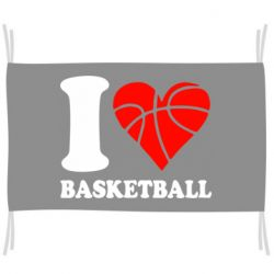Флаг I love basketball