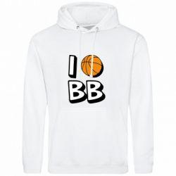 Мужская толстовка I love basketball