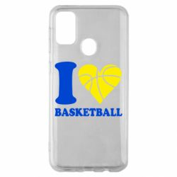 Чехол для Samsung M30s I love basketball