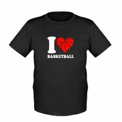 Дитяча футболка I love basketball