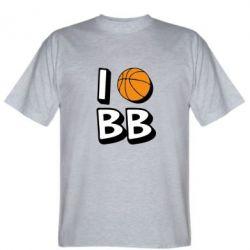 Мужская футболка I love basketball - FatLine