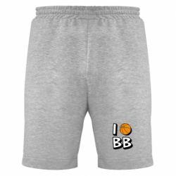 Мужские шорты I love basketball