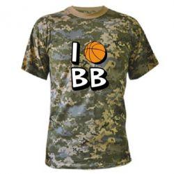 Камуфляжная футболка I love basketball - FatLine