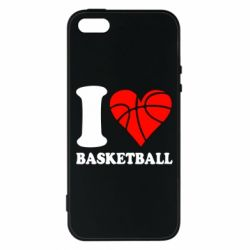Чехол для iPhone5/5S/SE I love basketball