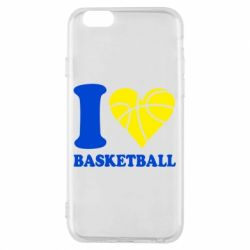 Чохол для iPhone 6/6S I love basketball