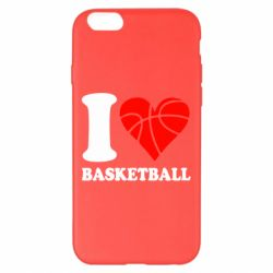 Чехол для iPhone 6 Plus/6S Plus I love basketball
