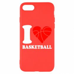 Чехол для iPhone 8 I love basketball