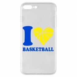 Чехол для iPhone 8 Plus I love basketball