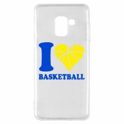 Чехол для Samsung A8 2018 I love basketball