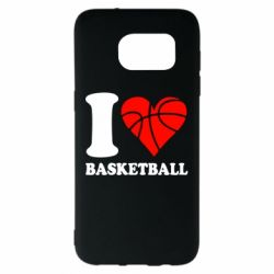 Чехол для Samsung S7 EDGE I love basketball