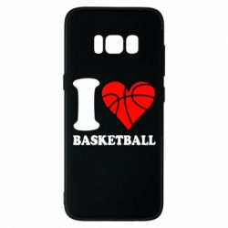 Чехол для Samsung S8 I love basketball