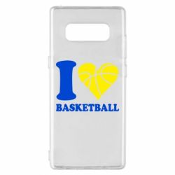 Чохол для Samsung Note 8 I love basketball