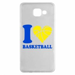 Чехол для Samsung A5 2016 I love basketball
