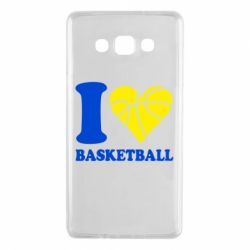 Чехол для Samsung A7 2015 I love basketball