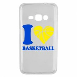 Чехол для Samsung J1 2016 I love basketball