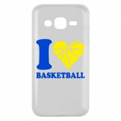 Чехол для Samsung J2 2015 I love basketball