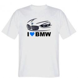Мужская футболка I love BMW 2 - FatLine