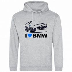 Мужская толстовка I love BMW 2 - FatLine