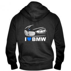 Мужская толстовка на молнии I love BMW 2 - FatLine