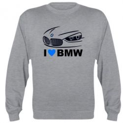 Реглан (свитшот) I love BMW 2 - FatLine