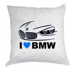 Подушка I love BMW 2 - FatLine