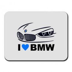 Коврик для мыши I love BMW 2 - FatLine
