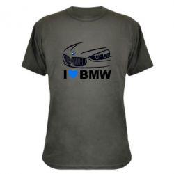 Камуфляжная футболка I love BMW 2 - FatLine