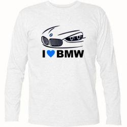 Футболка с длинным рукавом I love BMW 2 - FatLine