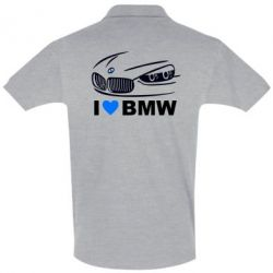 Футболка Поло I love BMW 2 - FatLine