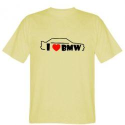 Мужская футболка I love BMW - FatLine