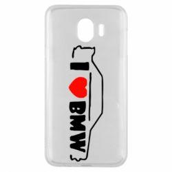 Чехол для Samsung J4 I love BMW