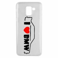 Чехол для Samsung J6 I love BMW