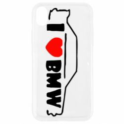 Чехол для iPhone XR I love BMW