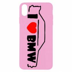 Чехол для iPhone Xs Max I love BMW
