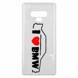 Чехол для Samsung Note 9 I love BMW