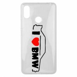 Чехол для Xiaomi Mi Max 3 I love BMW