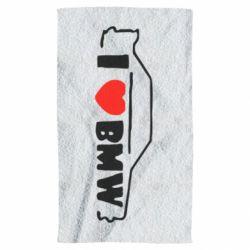 Полотенце I love BMW