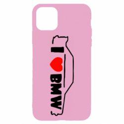 Чехол для iPhone 11 I love BMW